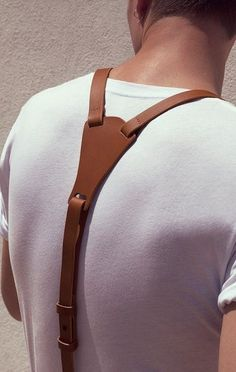 Suspenders are masculine, classy and have a strong sex appeal yet not many opt for this accessory. Here& a complete guide on suspenders for men. Leather Accessories, Fashion Accessories, Leather Suspenders, Brown Suspenders, Braces Suspenders, Moda Fashion, Men's Fashion, Fashion News, Leather Projects