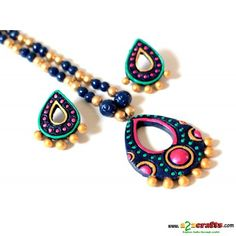 Exclusive Terracotta Jewelry - Terracotta - Rs. 465 - Hand Made Crafts - Buy & Sell Indian Handmade Crafts and Handmade terracotta, dokra Jewelry and Gifts