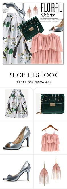 """The Perfect Summer Floral Skirt"" by svijetlana ❤ liked on Polyvore featuring Serefina, floralskirt, polyvoreeditorial and shein"