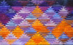 Tangerine, Pumpkin, Lavender, Amethyst....shades of #quilting! www.nwquiltingexpo.com #nwqe