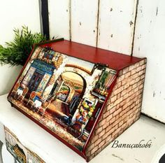 Decor Crafts, Diy And Crafts, Arts And Crafts, Paper Crafts, December Challenge, Decoupage Wood, Altered Boxes, Crafty Projects, Porch Decorating
