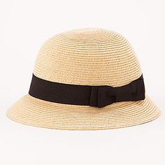 Natural Bucket Hat with Bow   World Market