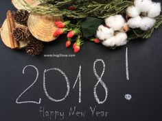 New Year 2018 Image Hd Black Board Chalk Style