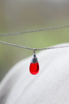 Hey, I found this really awesome Etsy listing at https://www.etsy.com/listing/220519719/red-drop-pendant-red-drop-necklace-red