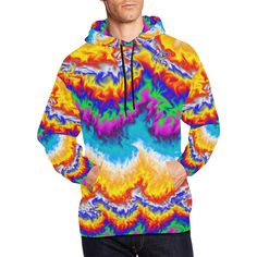On Fire All Over Print Hoodie for Men/Large Size (USA Size) (Model H13) #hoodieformen Size Model, Hoods, Street Wear, Menswear, Fire, Usa, Sweatshirts, Sweaters, Outfits