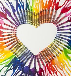 Melted crayon arts / Olvasztott zsírkréta kép egyszerűen / Mindy -  creative craft ideas