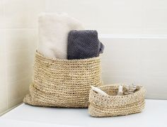 Set of Sisal baskets #namesiac