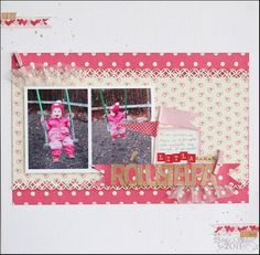 #Scrapbook #Scrapbooking pebbles with love collection