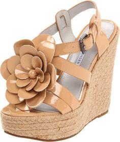 New Vera Wang Lavender Espadrilles Penny Leather Platform Wedges Sandals 9.5 #VeraWangLavenderLabel #PlatformsWedges