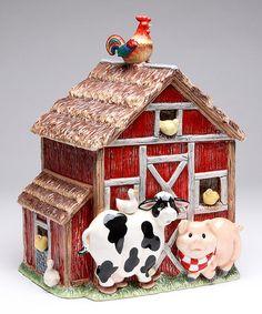 Look at this #zulilyfind! Barnyard Cookie Jar by Cosmos Creations #zulilyfinds