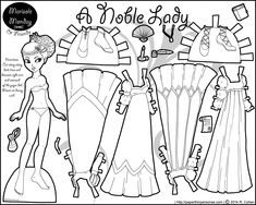 Marisole Monday Paper Dolls in Black and White   ... Click Here for More Marisole Monday & Friends Printable Paper Dolls