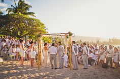 white wedding- love how the greenery and hints of yellow look with the white!
