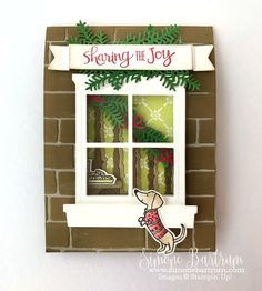 Stampin' Up! staircase: Ready For Christmas bundle meets Hearth & Home bundle, to create an adorable double front card. Join Stampin' Up! now for early access to the 2017 Holiday (Christmas) Catalogue.