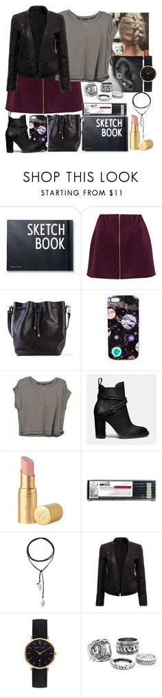 """School Day #9"" by blackest-raven ❤ liked on Polyvore featuring Boohoo, Proenza Schouler, Nikki Strange, Coach, Too Faced Cosmetics, Vanessa Mooney and Abbott Lyon"