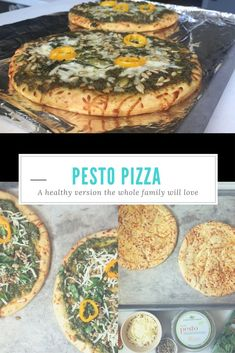 #Healthy Pesto Pizza