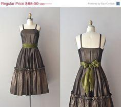 25% OFF SALE.... Ma Belle Amie dress / vintage 50s striped dress / 1950s dress / Ma Belle Amie dress