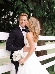 Getting married on you family's #dahlia farm? Pretty darn cool! See the wedding here: http://www.StyleMePretty.com/2014/05/21/rustic-family-farm-wedding/ Photography - KipBeelmanPhotography.com - Wedding Coordination: SimplyWed.com