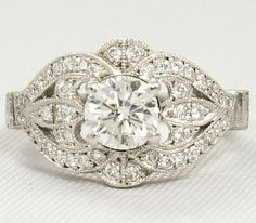 Vintage Engagement ring | weddingsabeautiful