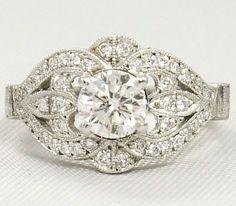 Vintage Engagement ring | weddingsabeautiful