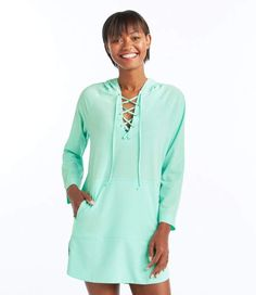 abd467f2fb5bf L.L. Bean L.L.Bean Bean's Stretch Swim Cover-Up, Hooded Tunic