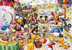 Japan Tenyo Disney Jigsaw Puzzle Party Shop D-1000-279 Mickey Minnie Pluto Goofy Disney Fun, Baby Disney, Disney Magic, Minnie Mouse Pictures, Disney Pictures, Disney Pics, Disney Stuff, Mickey Mouse And Friends, Mickey Minnie Mouse