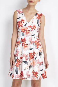 Petite Coral Floral Prom Dress #wallisfashion #SS16