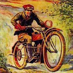 Figure 1 - 'Victor Appleton's' Tom Swift on his motorcycle