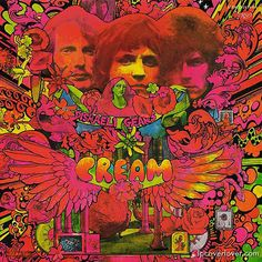 Cream. Disraeli Gears. Cover art by Martin Sharp.    Jack Bruce: Vocals, harmonica, bass, piano    Eric Clapton: Guitars, vocals    Ginger Baker: Drums, vocals    Produced by Felix Pappalardi. Recorded 1967 at Atlantic Studios, New York. Engineered by Tom Dowd.
