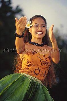 Hula dancer, Old Lahaina Luau, Maui, Hawaii-MNR