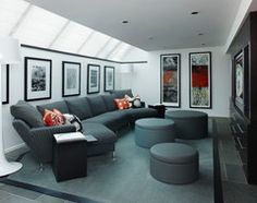 Zack Residence contemporary-home-theater