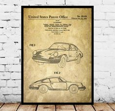 Porsche  Patent, Porsche Poster, Porsche Print, Porsche Art, Porsche Decor, Porsche Blueprint, Porsche Old Wall Art by STANLEYprintHOUSE  0.79 USD  This is a vintage patent print. The Porsche patent from 1964.  This poster is printed using high quality archival inks, and will be of museum quality. Any of these posters will make a great affordable gift, or tie any room together.  Please choose between different sizes and colors.  ..  https://www.etsy.com/ca/listing/496214177/porsche..