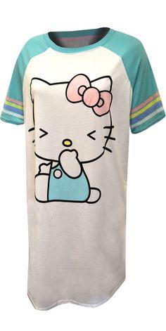 Hello Kitty Sleepwear, Loungewear and Pajamas for Women Best Pajamas, Cute Pajamas, Pajamas Women, Lounge Pants, Lounge Wear, Hello Kitty Characters, Bra Shop, Pajama Set, Mens Tops