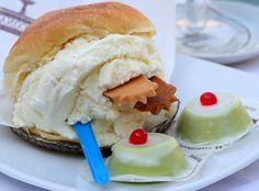 Brioscia con gelato e cassatine #sicilianfood