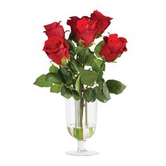 Fleur Velvet Rose Arrangement in Glass Vase