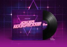 Image result for 80's typography vinyl