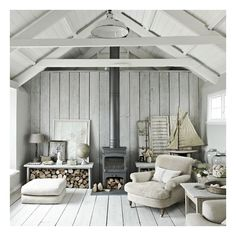 Nautical theme living room ❤ liked on Polyvore featuring backgrounds, rooms and photos
