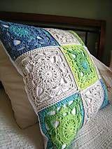 Úžitkový textil - Háčkovaný vankúš  - 4440387_