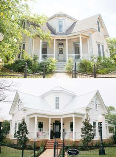 Exterior makeover.  I just love the shape of this house.  And the little changes make a big difference!