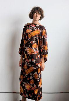 Vintage 70's FLORAL Maxi Dress Size M/L by SpunSugarVintage