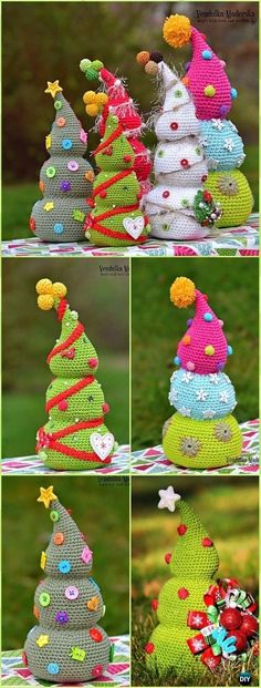 Crochet Gift Patterns Crochet Amigurumi Christmas Tree Pattern - Crochet Christmas Tree Patterns - Crochet Christmas Tree Free Patterns for Holiday Decoration and Gifts to Family and Friends, crocodile stitch Christmas tree, Granny Square, Circle Applique Christmas Tree Design, Crochet Christmas Trees, Christmas Tree Pattern, Christmas Crochet Patterns, Holiday Crochet, Christmas Knitting, Crochet Tree, Christmas Tree Images, Crochet Christmas Decorations
