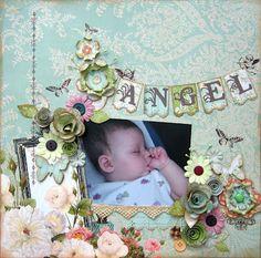 Baby scrap book page