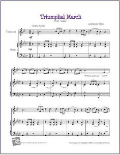 103 Best Trumpet Sheet Music | Easy images in 2018 | Trumpet