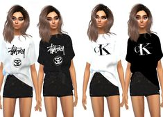 The New Female T-Shirt Streetwear Brand Recolour Collection #1 is here!  You need the mesh by @sims4-marigold, which can be downloaded here.  Download the recolour here!  The collection has been created...