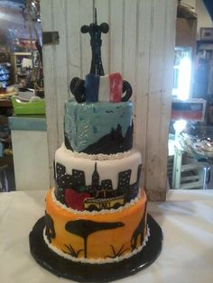 Favorite Places Cake-Africa, New York, Yellow Stone and Paris Creative Kitchen ft. Smith Ar