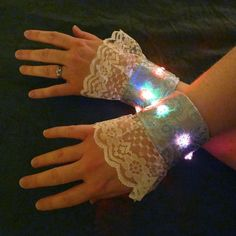 Color Changing Lighted Steampunk Wrist Cuffs