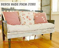 make a bench entirely from junque, painted furniture, repurposing upcycling, woodworking projects