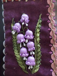 Wonderful Ribbon Embroidery Flowers by Hand Ideas. Enchanting Ribbon Embroidery Flowers by Hand Ideas. Embroidery Designs, Ribbon Embroidery Tutorial, Silk Ribbon Embroidery, Beaded Embroidery, Embroidery Stitches, Hand Embroidery, Embroidery Services, Ribbon Art, Ribbon Crafts
