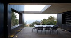Black timber cladding & concrete