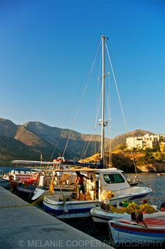 Getting ready for a day's fishing in Bali, Crete.    http://melaniecooperphotography.blogspot.co.uk/