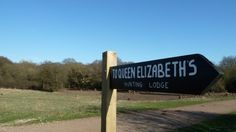 Essex Walks Epping Forest Favourite Family Walking Route. Queen Elizabeths Hunting Lodge Signpost.    http://www.walksandwalking.com/2012/05/walks-and-walking-essex-walks-epping-forest-family-walking-route/